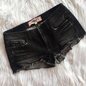 PINK VS Limited Edition Black Denim Shorts Sz 6